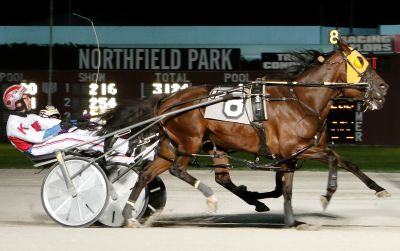 Drama Act and Matt Kakaley nip Perfect Storm to win the $120,000 Courageous Lady at Northfield Park in 1:51.1